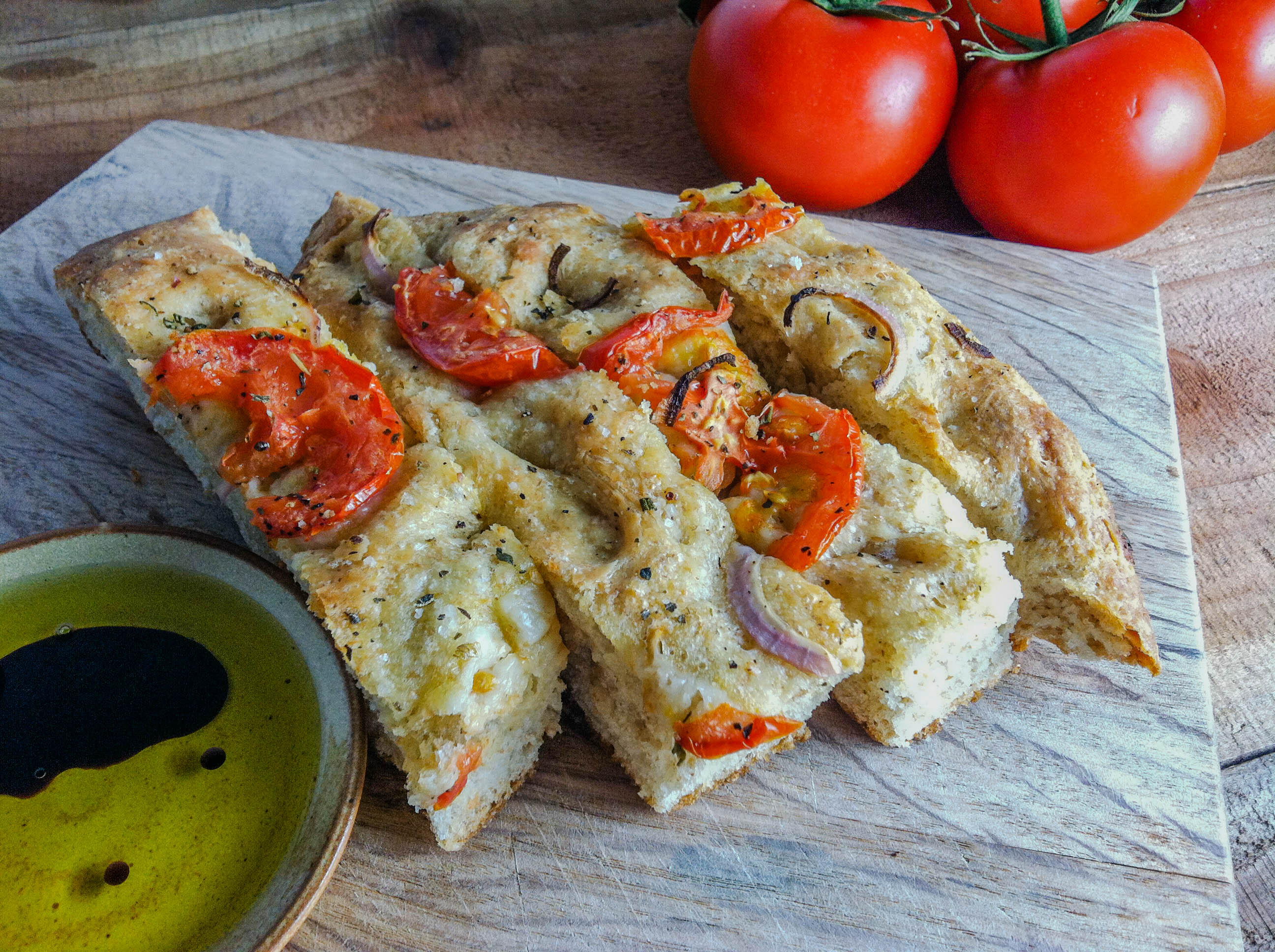 Fresh Tomato and Herb Focaccia Bread - Eat Love Now